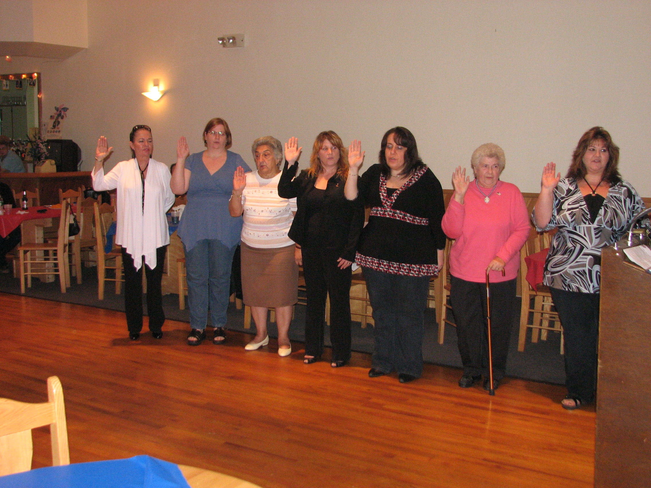 Ladies Auxiliary Officers For The 2009 - 2010 Leigon Year.
