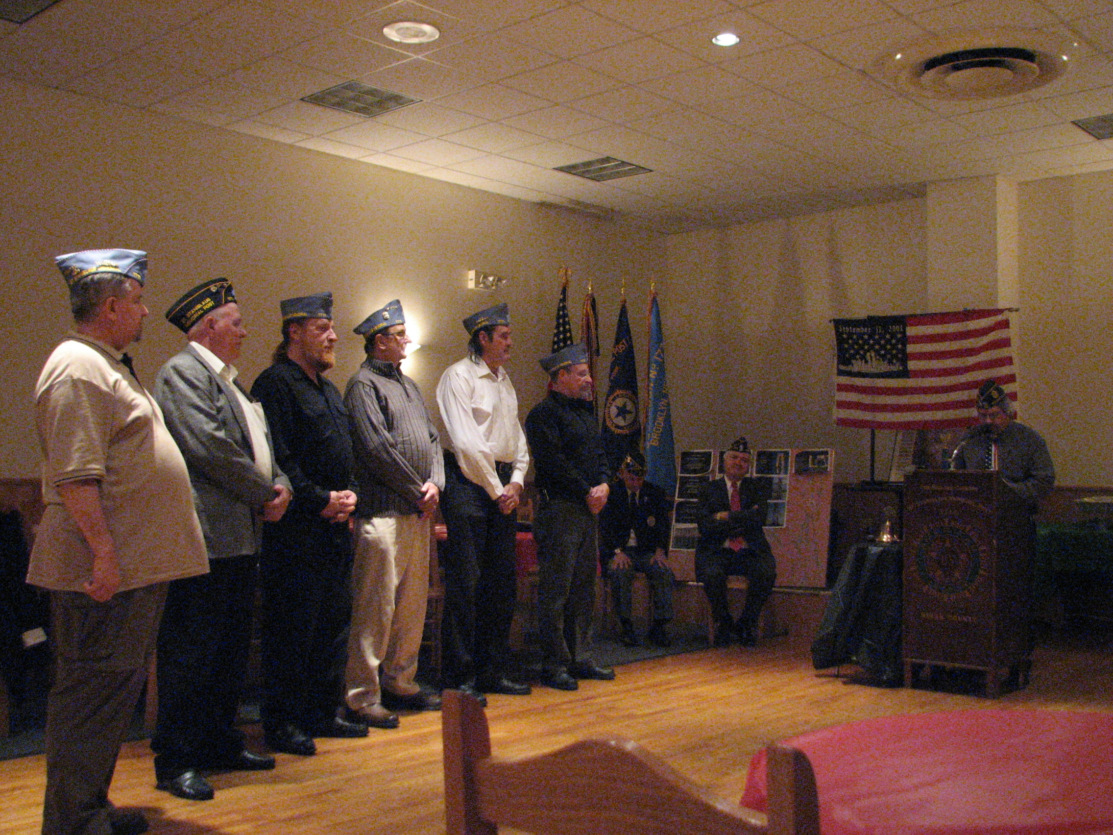 Sons Of The American Leigon Officers For The 2009 - 2010 Year.
