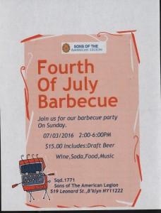 July 4,2016 BBQ